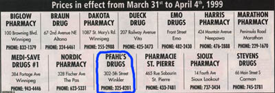 The SOS is proud to support Pfahl's Drugs, for all your over-the-counter, prescription, and Easter chocolate needs.  Why not stop by your neighborhood Pfahl's today?