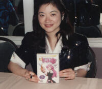 Chiho Saito, signing our rep's Utena DVD